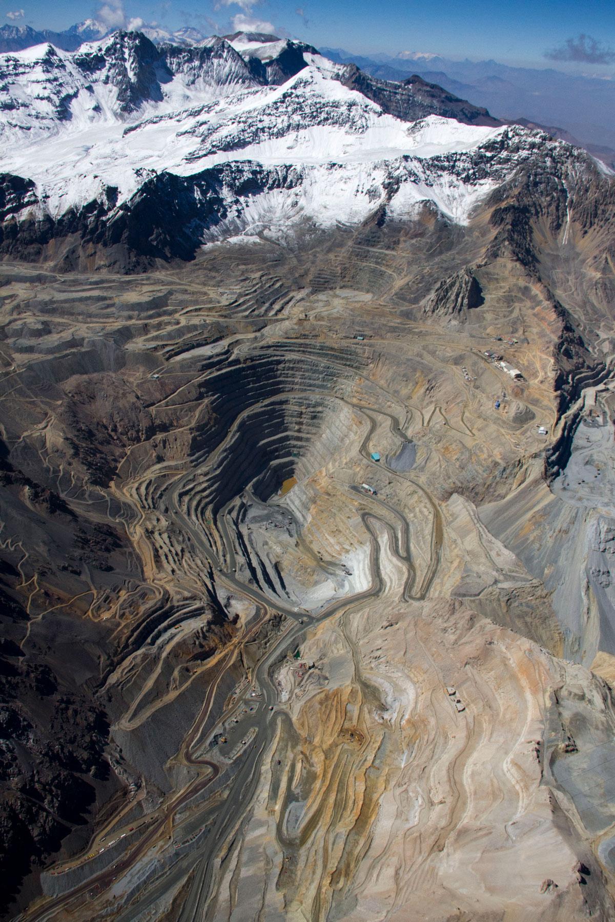 Kupferabbau, Kupfermine, Rohstoff Kupfer