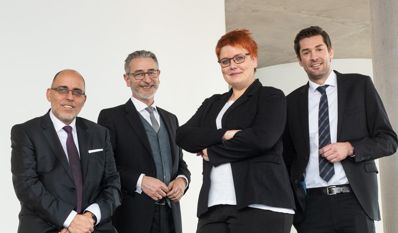Jürgen Dittus, Guido Kalker, Tina Hantke, Armin Mohn von Südkupfer - die Experten im Kupferhandel