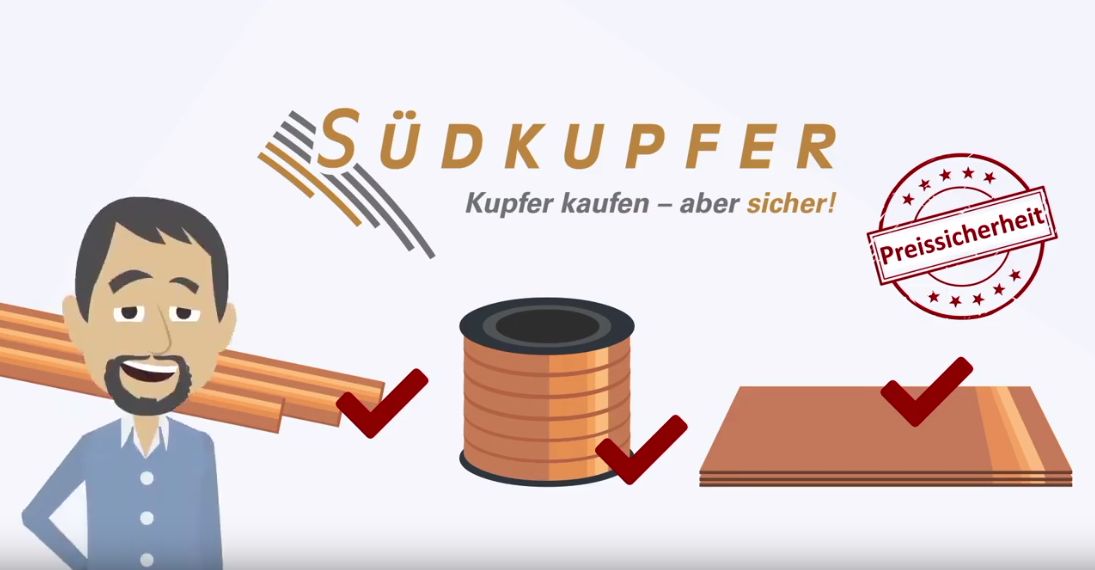 Kupferkauf mit Preissicherung, Beistellung und Logistik rund ums Kuper – unser Erklärvideo zeigt was wir können.